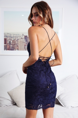 Petra Dress - Navy