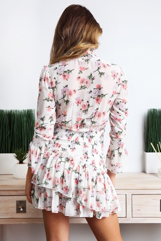 Giulia Dress - White Floral