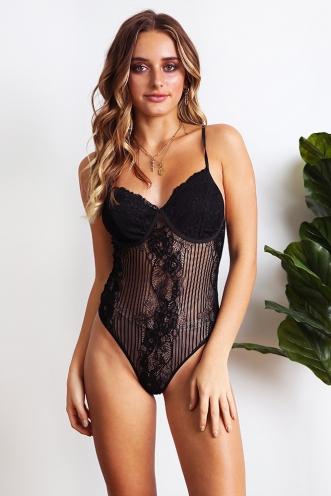 Lainey Bodysuit - Black