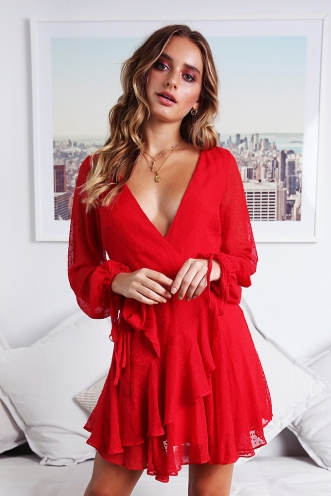 Cara Dress - Red