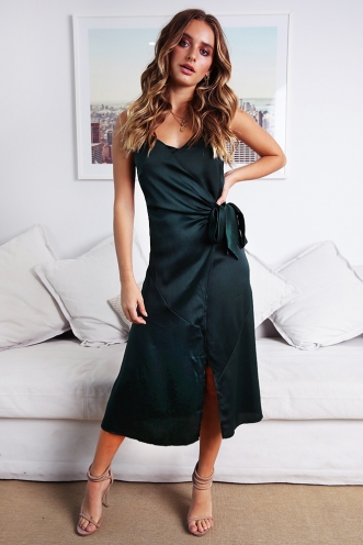 Aleah Dress - Forest Green