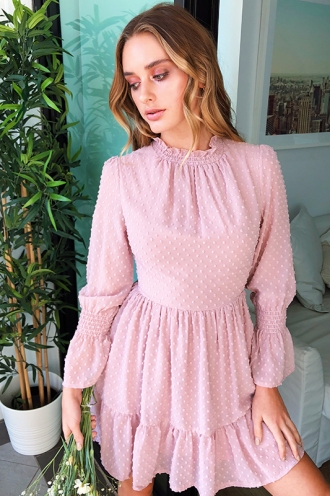 Rosalind Dress - Dusty Pink