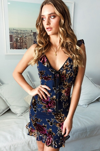 Lizelle Dress - Navy Print