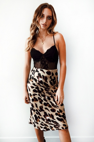 Rebel Just For Kicks Skirt - Leopard