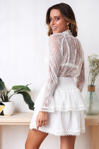 Waldorf Top - White Lace