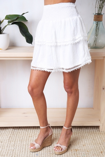 Waldorf Skirt - White Lace