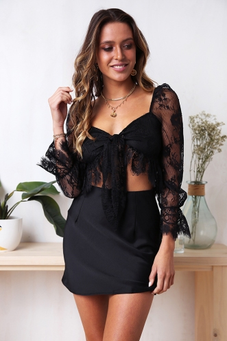 Juicy Secrets Top - Black Lace