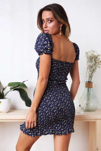 Tammi Dress - Navy Print
