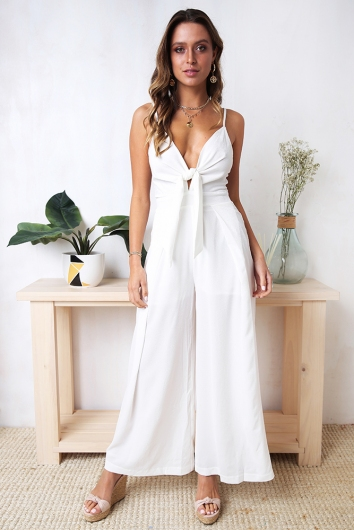 Blooming Fields Jumpsuit - White