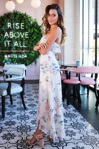 Adela Maxi Dress - Peach Floral