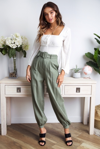 My Wish Pants- Khaki