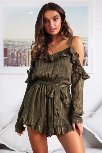 Lucky Dip Playsuit - Khaki