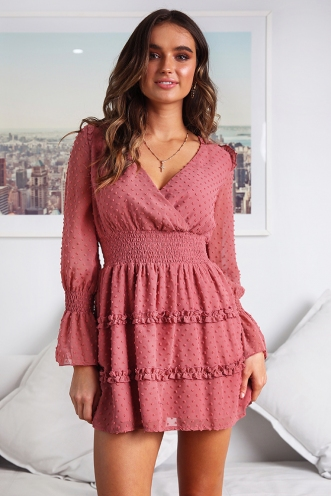 Turn Off The Lights Dress - Pink
