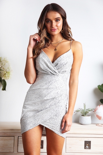 New Orleans Dress - Silver Sparkle
