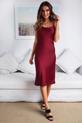 Claws Out Dress - Maroon