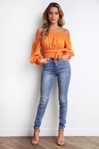 Lateisha Top - Orange