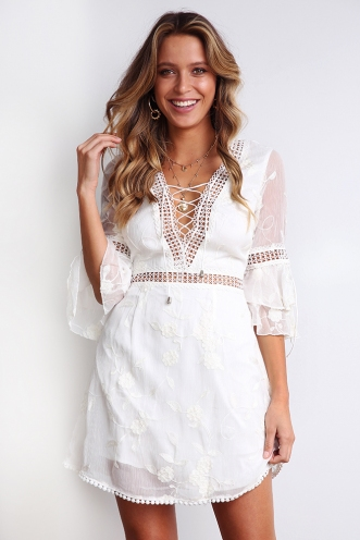 Moon Child Dress - White