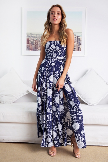 a4375551c469 First Class Jumpsuit - Navy Print - Stelly
