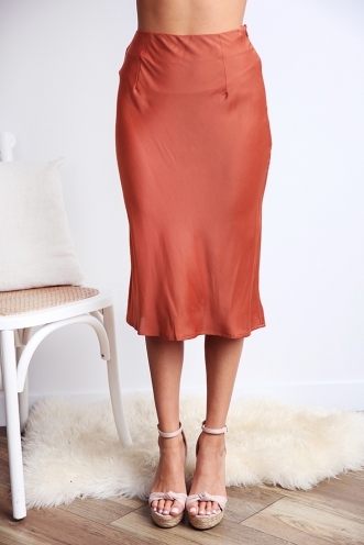 Rebel Just For Kicks Skirt - Terracotta