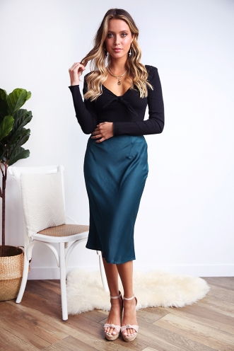 Rebel Just For Kicks Skirt - Teal