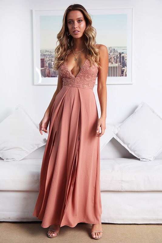a5a6308ea5cb Ariana Jumpsuit - Dusty Peach. Loading zoom