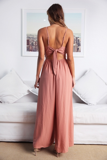 Ariana Jumpsuit - Dusty Peach