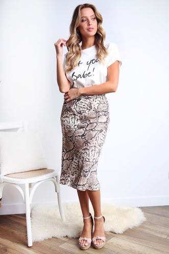 Rebel Just For Kicks Skirt - Snake Print