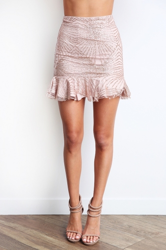 Golden Rush Skirt- Rose gold