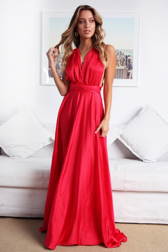Sophie Wrap Dress - Red