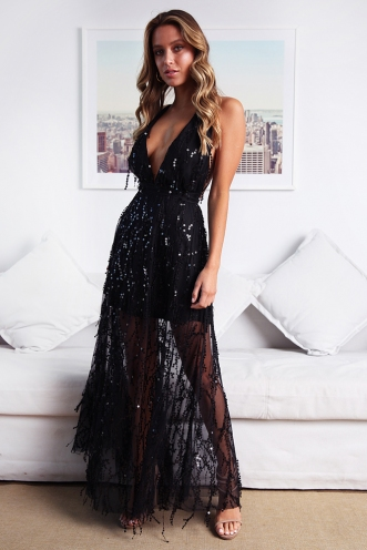 fe5c0dd26af57 ... Move It and Shake It Dress - Black Sequin