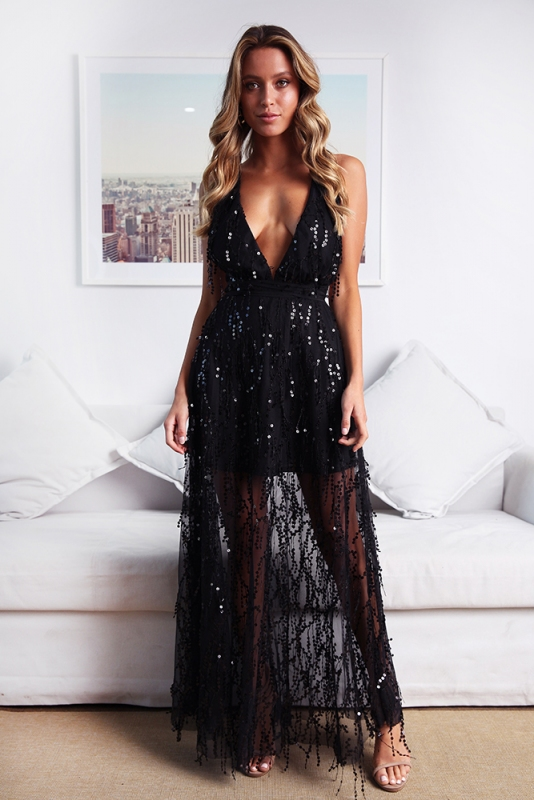 bab6345807b1 Move It and Shake It Dress - Black Sequin - STELLY