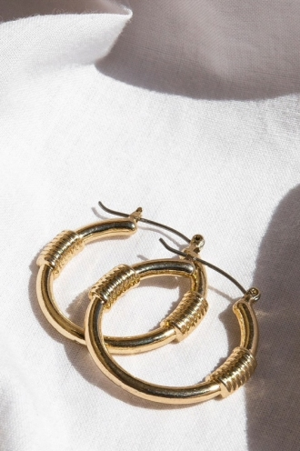 Minc Collections - Dakota Hoops - Gold