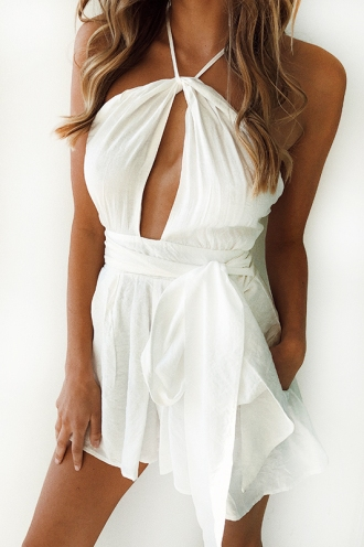 Meant To Be Playsuit - White