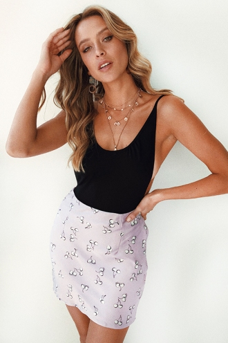 Kiani Skirt - Lilac Cherry