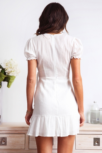 In High Spirits Dress - White
