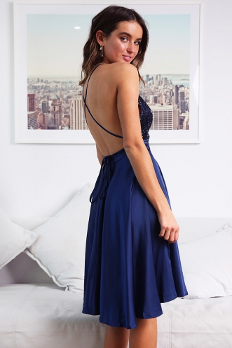 Lisiane Dress - Navy