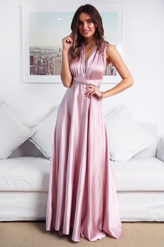 Sophie Wrap Dress - Blush