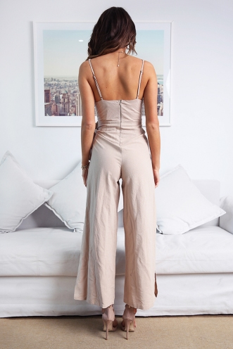 Sweet Lovin' Jumpsuit - Natural