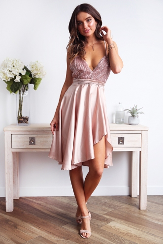 Lisiane Dress - Rose Gold