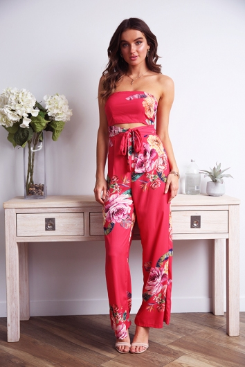 Bring it on jumpsuit - Red print