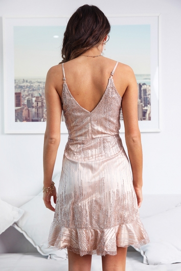 Louarna Dress - Rose Gold