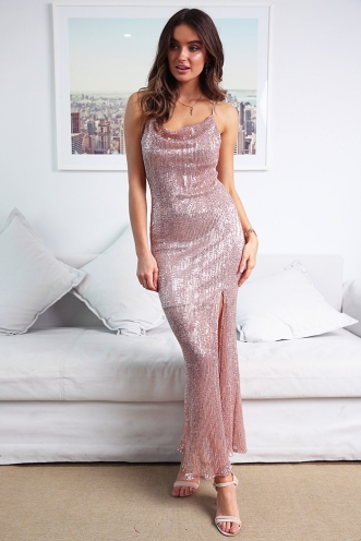 Champagne Shower Dress - Rose Gold