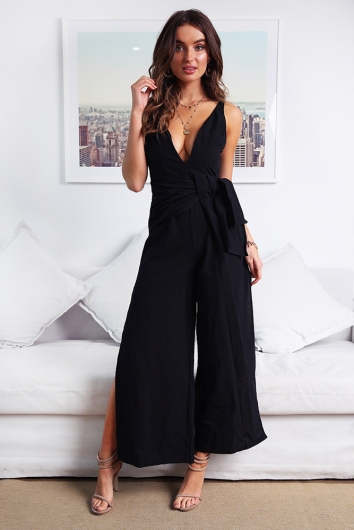 Sweet Lovin' Jumpsuit - Black