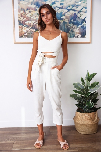 Under The Sun Pants - White