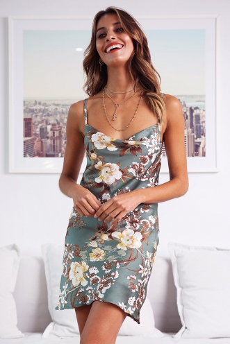 Tune It Up Dress - Green Print