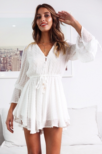 Hey Miley Playsuit- White