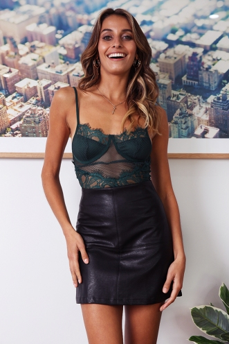 Lexi Skirt - Black Pleather