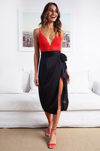 Talula Wrap Skirt - Black