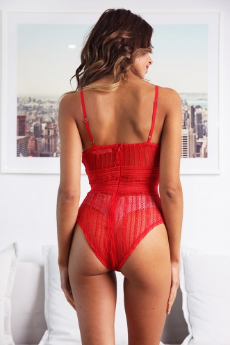 Shira Bodysuit - Red