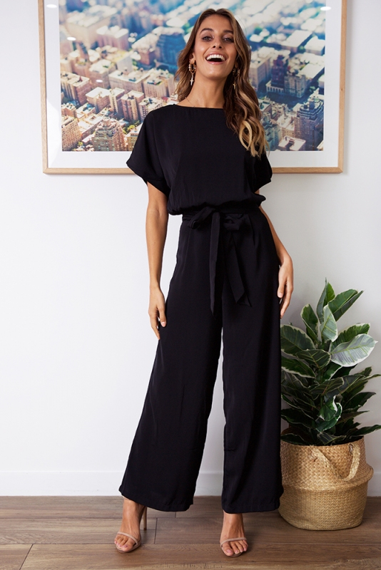 ebe55a7414 Apple Of The Eye Jumpsuit - Black - Stelly